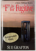 """Books:Mystery & Detective Fiction, Sue Grafton. SIGNED. """"F"""" is for Fugitive. New York: HenryHolt, [1989]. First edition, first printing. Signed by G..."""