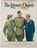 Books:Periodicals, Norman Rockwell [illustrator]. The Literary Digest. [NewYork: Funk & Wagnalls], 1918. First edition, first prin...