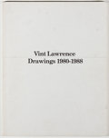 Books:Art & Architecture, Vint Lawrence. INSCRIBED. Drawings 1980-1988. Washington: [Lawrence], 1988. First edition, first printing. Signed ...