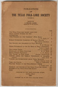 Books:Americana & American History, [Texas Folklore Society]. J. Frank Dobie, editor. Publicationsof the Texas Folk-Lore Society, Number II. Austin...