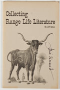 Books:Americana & American History, Jeff Dykes. SIGNED. Collecting Range Life Literature. Bryan,Texas: Printed for the Brazos Corral by Cedarshouse Pre...