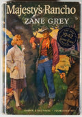 Books:Fiction, Zane Grey. Majesty's Rancho. New York: Harper &Brothers, [1942]. First edition, first printing. Octavo. 297 pages....
