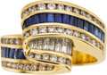 Estate Jewelry:Rings, Diamond, Sapphire, Gold Ring, Charles Krypell. ...