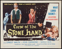"Curse of the Stone Hand (A.D.P., 1964). Half Sheet (22"" X 28""). Horror"