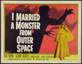 "Movie Posters:Science Fiction, I Married a Monster from Outer Space (Paramount, 1958). Half Sheet(22"" X 28""). Science Fiction.. ..."