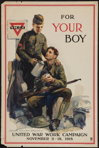 "World War I United Work Campaign (Comm. on Public Information, 1918). YMCA Propaganda Poster (20"" X 30""). &quo..."