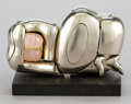 Sculpture, AN ITALIAN NICKEL PLATED FIGURAL PUZZLE BY MIGUEL BERROCAL (SPANISH, 1933-2006): MINI ZORAIDA . 1969-1970. Marks: ... (Total: 2 Items)
