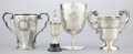 Silver Holloware, American:Cups, FOUR SILVER TROPHY CUPS . 20th century . Marks: (lion passant),(anchor) RC, u; TIFFANY & CO., MAKERS STERLING, 79559;(... (Total: 4 Items)