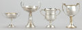 Silver Holloware, British:Holloware, FOUR ENGLISH SILVER GOLFING TROPHIES . Circa 1925. Marks: (lionpassant), (anchor), J.W.T., E; (lion passant), (anchor),...(Total: 4 Items)