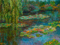 Fine Art - Painting, American:Contemporary   (1950 to present)  , RITA HOFFMAN SHULAK (American, 20th Century). Giverny's WaterLilies. Oil on canvas. 12 x 16 inches (30.5 x 40.6 cm). Si...