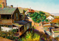 Fine Art - Painting, American:Contemporary   (1950 to present)  , FILASTRO MATHEW MOTTOLA (American, 1915-2008). Jerome,Arizona. Oil on board. 23-1/2 x 34 inches (59.7 x 86.4 cm).Signe...