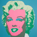 Prints, After ANDY WARHOL (American, 1928-1987). Marilyn (Portfolio of 10 prints). Color silkscreen on museum board paper . 36 x...