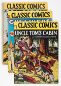 Golden Age (1938-1955):Classics Illustrated, Classic Comics Group (Gilberton, 1940s) Condition: Average GD....(Total: 7 Comic Books)