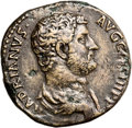 Ancients:Judaea, Ancients: Hadrian (117 - 138 AD). AE sestertius (30mm, 22.84 gm, 12h). ...