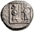 Ancients:Judaea, Ancients: Samaria (late 4th century BC). AR ma'ah obol (10mm, 0.74gm, 11h). ...