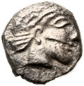 Ancients:Judaea, Ancients: Gaza (5-4 centuries BC). AR ma'ah-obol (8mm, 0.74 gm,2h). ...