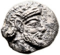 Ancients:Judaea, Ancients: Gaza (5-4 centuries BC). AR ma'ah obol (8mm, 0.44 gm,12h). ...