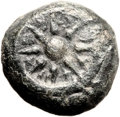 Ancients:Judaea, Ancients: Alexander Jannaeus (104 - 76 BC). AE prutah (16mm, 4.24gm, 12h)....
