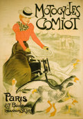 Fine Art - Work on Paper:Print, THÉOPHILE ALEXANDRE STEINLEN (Swiss, 1859-1923). MotocyclesComiot, 1899. Color lithograph poster. 78 x 59-1/4 inches (1...