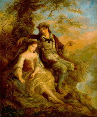 WILLIAM MULREADY (British, 1805-1878) Young Lovers, 1841 Oil on canvas 30 x 25 inches (76.2 x 63