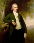 Fine Art - Painting, European:Antique  (Pre 1900), Circle of GEORGE ROMNEY (British, 1734-1802). Portrait of a Man, Purportedly Arthur Young, Secretary of Agriculture. Oil...