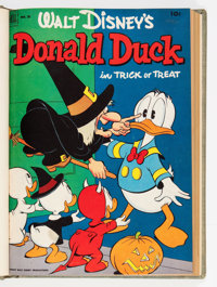 Donald Duck #26-80 File Copies Bound Volumes (Dell, 1953-61).... (Total: 9 Items)