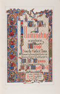 Books:Books about Books, W. R. Tymms and M. D. Wyatt. The Art of Illuminating asPracticed in Europe From the Earliest Times. London: Pub...