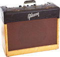 Musical Instruments:Amplifiers, PA, & Effects, 1940s Gibson GA-20T Brown Two-Tone Guitar Amplifier, Serial #35950. ...