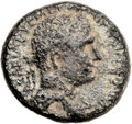 Ancients:Judaea, Ancients: Agrippa I (37 - 44 AD). Mint of Caesarea Maritima. AE(20mm, 7.83 gm, 12h)....