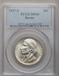 Commemorative Silver: , 1937-S 50C Boone MS66 PCGS. PCGS Population (122/33). NGC Census:(150/32). Mintage: 2,506. Numismedia Wsl. Price for probl...