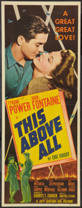 """Movie Posters:War, This Above All (20th Century Fox, 1942). Insert (14"""" X 36""""). War....."""