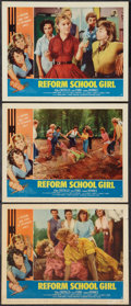 "Movie Posters:Bad Girl, Reform School Girl (American International, 1957). Lobby Cards (3)(11"" X 14""). Bad Girl.. ... (Total: 3 Items)"