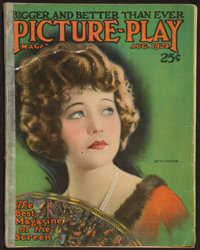 """Picture Play (Street and Smith Publications, August, 1924). Magazine (Multiple Pages, 8.75"""" X 11.25""""). Miscell..."""