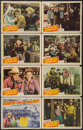 """Movie Posters:Western, Heart of the Golden West (Republic, 1942). Lobby Card Set of 8 (11""""X 14""""). Western.. ... (Total: 8 Items)"""