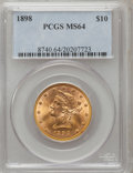 Liberty Eagles: , 1898 $10 MS64 PCGS. PCGS Population (58/8). NGC Census: (110/38).Mintage: 812,197. Numismedia Wsl. Price for problem free ...