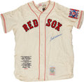 Baseball Collectibles:Uniforms, Ted Williams Signed Boston Red Sox Jersey....