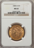 Liberty Eagles: , 1888-S $10 MS62 NGC. NGC Census: (499/83). PCGS Population(462/123). Mintage: 648,700. Numismedia Wsl. Price for problem f...