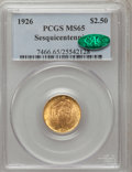 Commemorative Gold: , 1926 $2 1/2 Sesquicentennial MS65 PCGS. CAC. PCGS Population(1868/135). NGC Census: (1071/85). Mintage: 46,019. Numismedia...