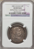 Coins of Hawaii: , 1883 50C Hawaii Half Dollar -- Improperly Cleaned -- NGC Details.AU. NGC Census: (23/264). PCGS Population (52/351). Minta...