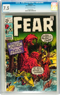 Bronze Age (1970-1979):Horror, Fear #1 (Marvel, 1970) CGC VF- 7.5 Off-white to white pages....