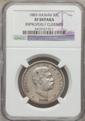 Coins of Hawaii: , 1883 50C Hawaii Half Dollar -- Improperly Cleaned -- NGC Details.XF. NGC Census: (32/323). PCGS Population (65/467). Minta...
