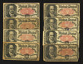 Fractional Currency:Fifth Issue, A Group of Eight Fr. 1380 50¢ Fifth Issue Notes Very Good orBetter.. ... (Total: 8 notes)