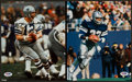 Football Collectibles:Photos, Roger Staubach and Tony Dorsett Signed Photographs Lot of 2....