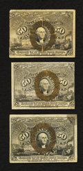 Fractional Currency:Second Issue, A Trio of 50¢ Second Issue Examples Very Fine.. ... (Total: 3 notes)