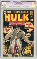 Silver Age (1956-1969):Superhero, The Incredible Hulk #1 (Marvel, 1962) CGC Apparent VG- 3.5 Slight(P) Cream to off-white pages....