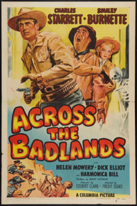 "Across the Badlands (Columbia, 1950). One Sheet (27"" X 41"")"