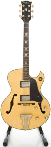 Musical Instruments:Electric Guitars, Circa 1970's Ventura Natural Semi-Hollow Body Electric Guitar....