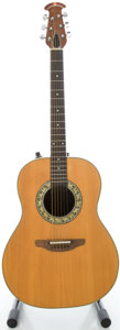 Musical Instruments:Acoustic Guitars, Circa 1980's Ovation Natural Acoustic Electric Guitar, Serial #040094....