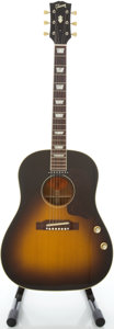 Musical Instruments:Acoustic Guitars, 2004 Gibson J-160E Sunburst Acoustic Electric Guitar, Serial #00374029....