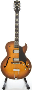 Musical Instruments:Electric Guitars, Circa mid 1950's Gibson ES-175 Refinished Archtop Electric Guitar,Serial #A18215....